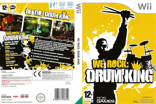We Rock: Drum King Wii cover (RUKPGT)