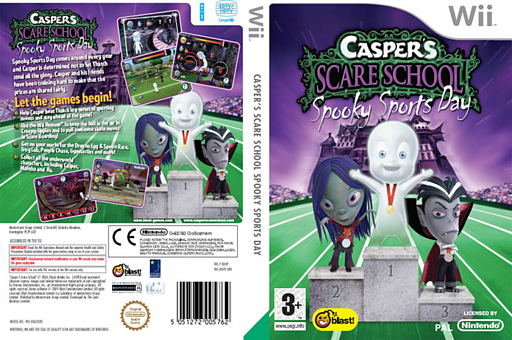Casper's Scare School: Spooky Sports Day Wii cover (RX4PMT)