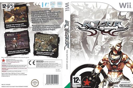 Rygar: The Battle of Argus Wii cover (RYGP99)