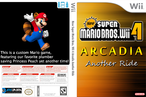 New Super Mario Bros. Wii 4 Arcadia Another Ride CUSTOM cover (SARP01)