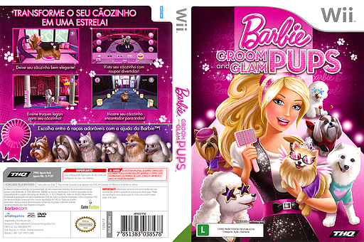 Barbie: Groom and Glam Pups Wii cover (SB9X78)