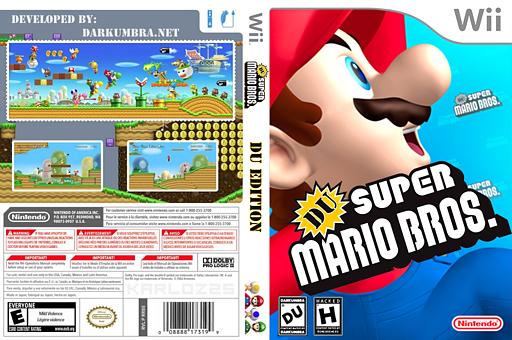 DU Super Mario Bros. : DU Edition CUSTOM cover (SDUPO1)