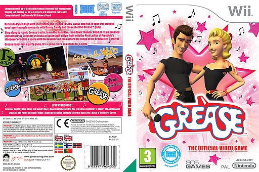 Grease Wii cover (SGRPGT)