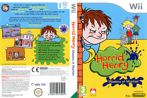 Horrid Henry: Missions of Mischief Wii cover (SHMPLR)