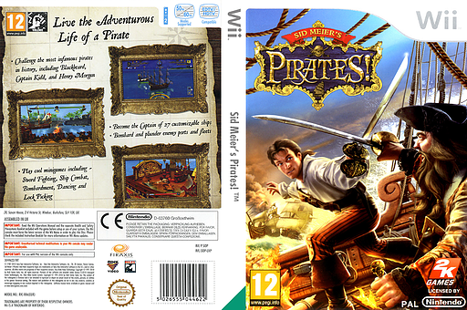 Sid Meier's Pirates! Wii cover (SIDP54)