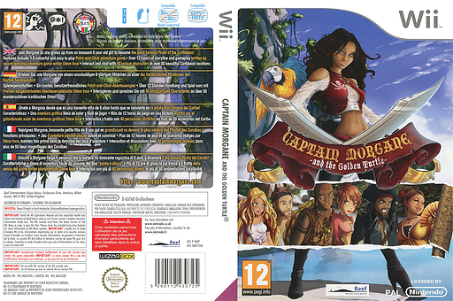 Captain Morgane and the Golden Turtle Wii cover (SKKPHY)