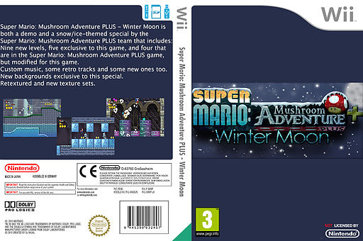 Super Mario: Mushroom Adventure PLUS: Winter Moon CUSTOM cover (SMMP02)