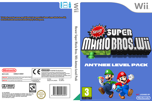 Newer Super Mario Bros. Wii: Antnee Level Pack CUSTOM cover (SMNP39)