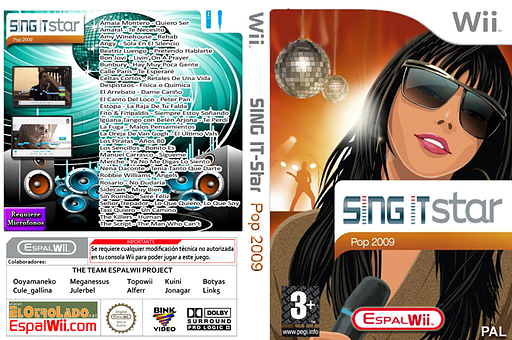 SingIt Star POP 2009 CUSTOM cover (SP9P4Q)