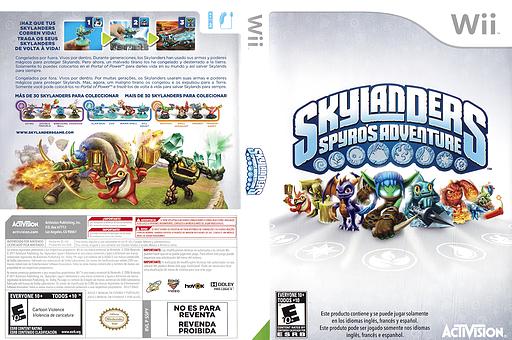 Skylanders: Spyro's Adventure Wii cover (SSPY52)