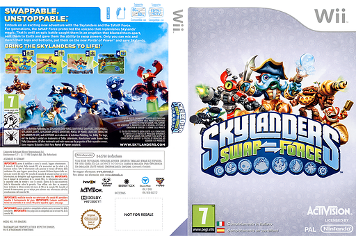 Skylanders: Swap Force Wii cover (SVXI52)