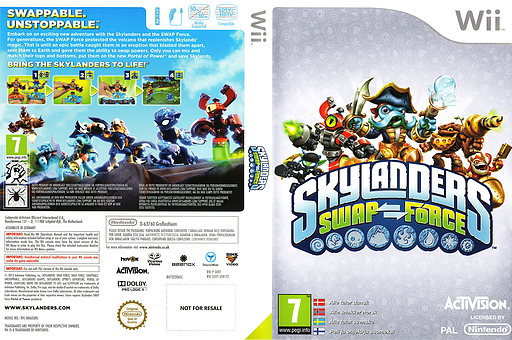 Skylanders: Swap Force Wii cover (SVXY52)