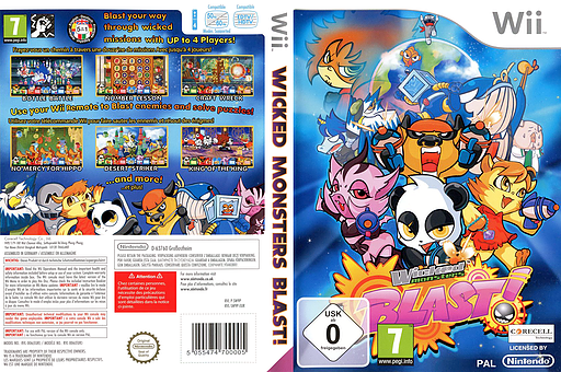 Wicked Monsters Blast! Wii cover (SW9PYT)