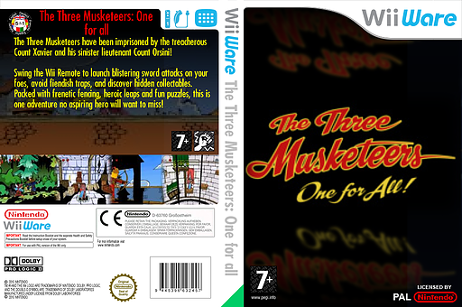 The Three Musketeers: One for all WiiWare cover (W3MP)