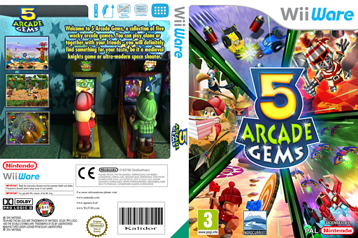5 Arcade Gems WiiWare cover (W5AP)