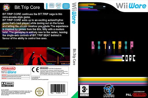 Bit.Trip Core WiiWare cover (W8CP)