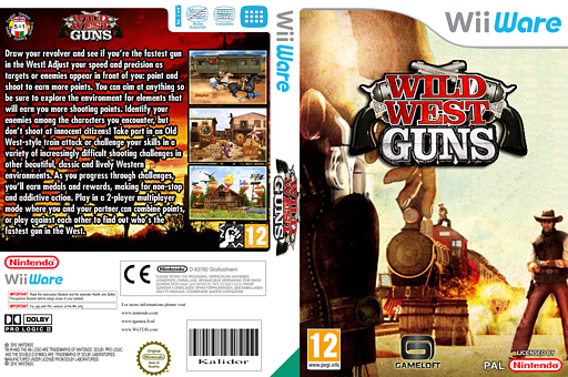 Wild West Guns WiiWare cover (WB4P)