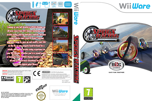 SPOGS Racing WiiWare cover (WBVP)