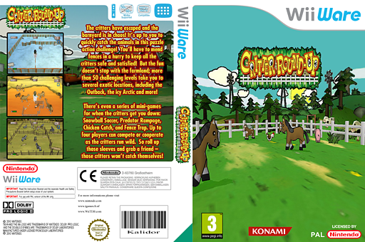 Critter Round-Up WiiWare cover (WBWP)