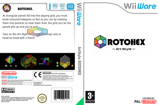 Art Style: ROTOHEX WiiWare cover (WDHP)