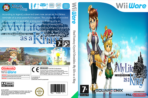 Final Fantasy Crystal Chronicles: My Life as a King WiiWare cover (WFCP)