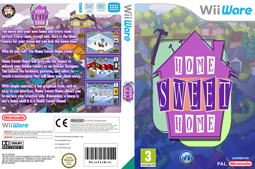 Home Sweet Home WiiWare cover (WH3P)