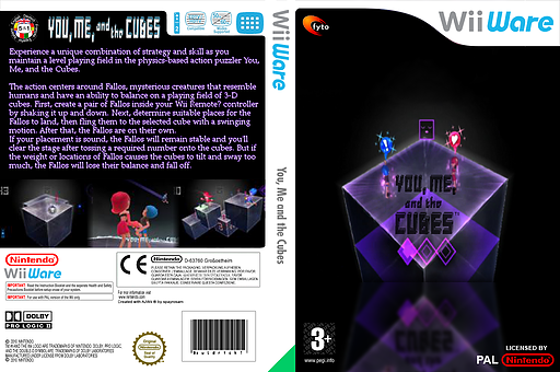 You, Me and the Cubes WiiWare cover (WKBP)
