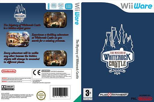 The Mystery of Whiterock Castle WiiWare cover (WKIP)