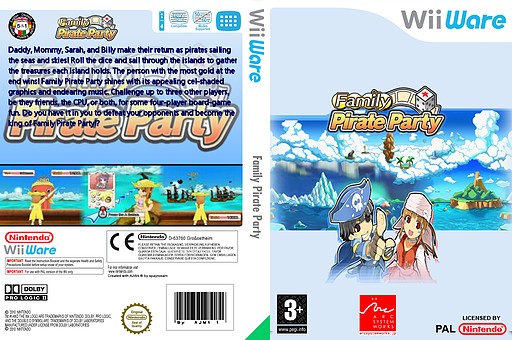 Family Pirate Party WiiWare cover (WO6P)