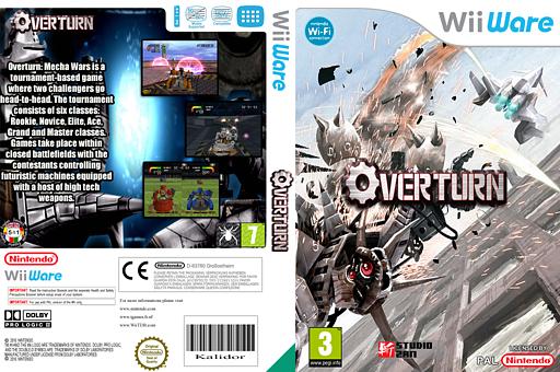 Overturn: Mecha Wars WiiWare cover (WOTP)