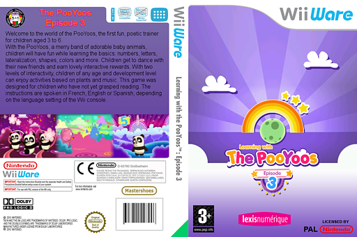Learning with the PooYoos: Episode 3 WiiWare cover (WP4P)