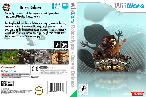 Robocalypse - Beaver Defense WiiWare cover (WRBP)