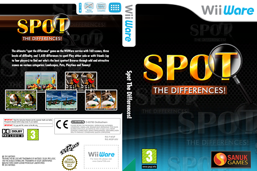 Spot the Differences! WiiWare cover (WSJP)