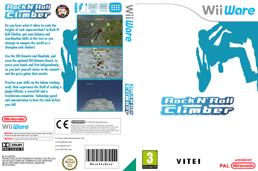 Rock'n Roll Climber WiiWare cover (WVOP)