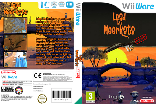 Lead the Meerkats (Demo) WiiWare cover (XH8P)