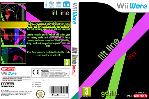 Lilt Line (Demo) WiiWare cover (XIAP)