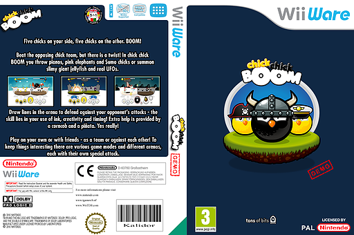 chick chick BOOM (Demo) WiiWare cover (XIEP)