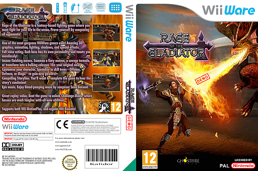 Gladiator Demo WiiWare cover (XIHP)