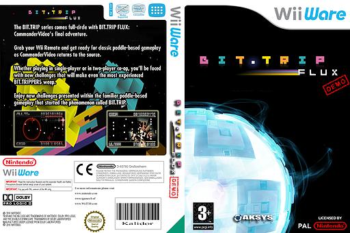 BIT.TRIP FLUX Demo WiiWare cover (XISP)