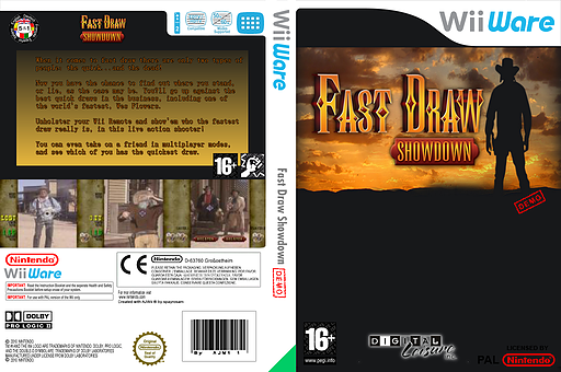 Fast Draw Demo WiiWare cover (XITP)