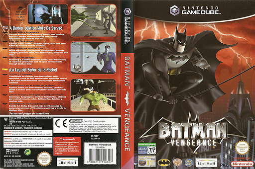 Batman Vengeance GameCube cover (GBVP41)