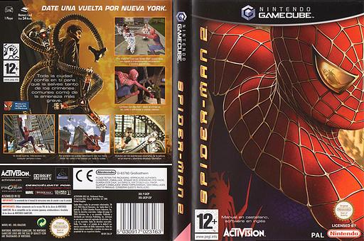 Spider-Man 2 GameCube cover (GK2P52)