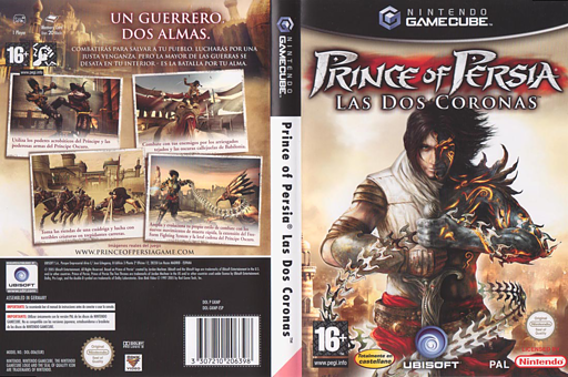 Prince of Persia: Las Dos Coronas GameCube cover (GKMP41)