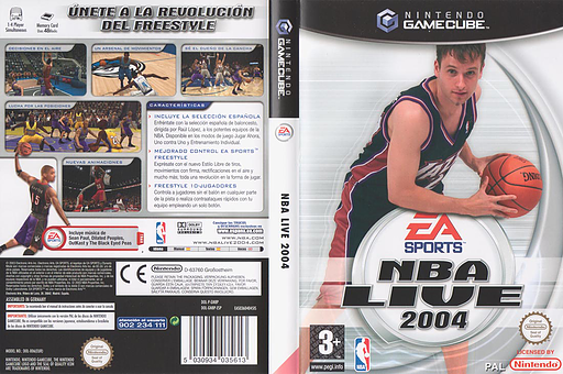 NBA Live 2004 GameCube cover (GN8P69)