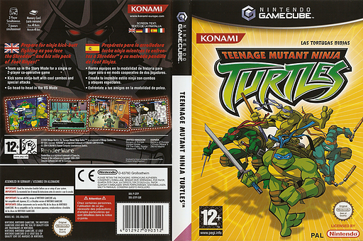 Teenage Mutant Ninja Turtles GameCube cover (GTFPA4)