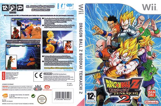 Dragon Ball Z:Budokai Tenkaichi 2 Wii cover (RDBPAF)
