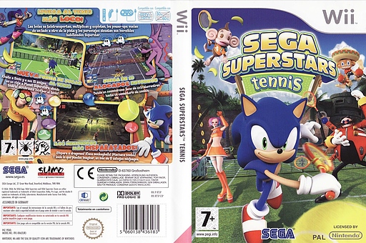 SEGA Superstars Tennis Wii cover (RT5P8P)