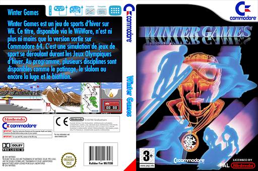 Winter Games pochette VC-C64 (C9EP)
