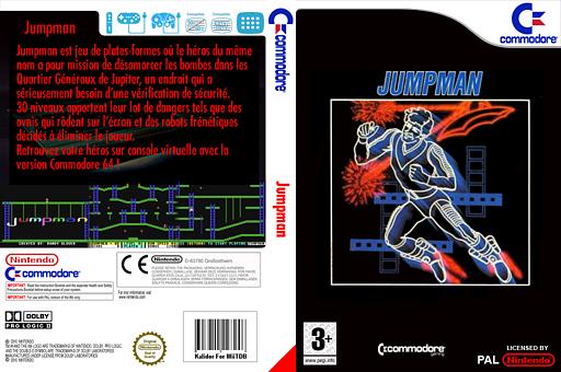 Jumpman pochette VC-C64 (C9QP)