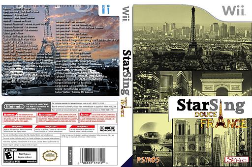 StarSing:Douce France v2.0 pochette CUSTOM (CS6P00)